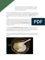 Que significa TPT en cocina?