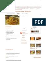 Receita de Fetuccini à c...Brócolis - Tudo Gostoso