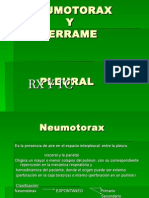NEUMOTORAX y Derrame Pleural