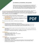 1. Heart Description, Prenatal & Postnatal Circulation