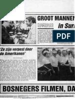 Groot Mannenkoor Zwolle op toernee door Suriname in november 1980