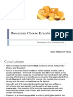 Romanian Cheese Brands Analysis