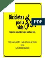 Presentación Bicicletas por la Vida