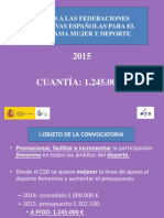 Mujer y Deporte 2015 - Información
