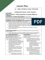 lesson plan 11scig quadrat sampling