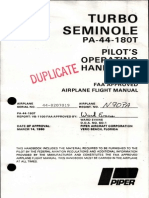 Piper PA-44-180T Turbo Seminole flight manual