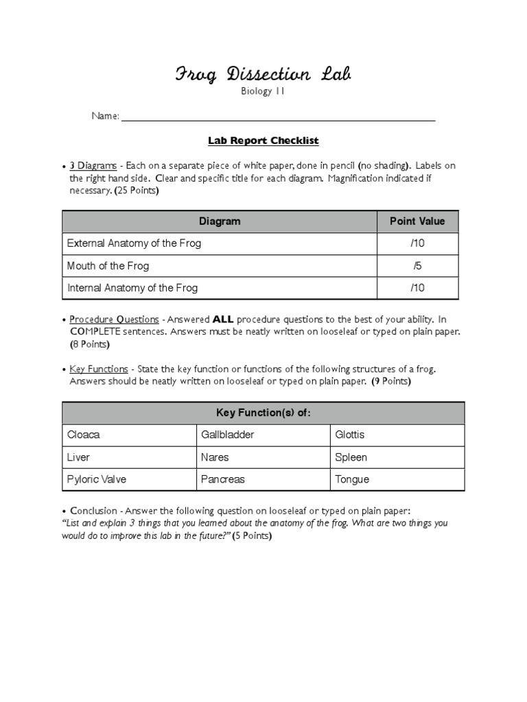 worksheet. Frog Dissection Worksheet Answer Key. Worksheet Fun ...