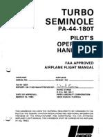 Piper PA-44-180T Turbo Seminole flight manual