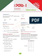 Matematica-UNI 2015 I