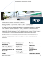 Gases, productos, sistemas y aplicaciones por industria _ Praxair México