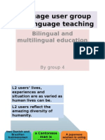 Lang User Groups & Lang Teaching