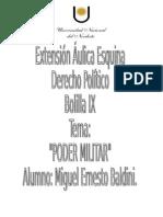 Dcho. Politico Poder Militar