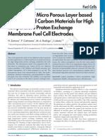 Materiales nanocarbonosos para su uso en pilas PEM de alta temperatura