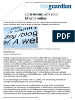 blogging in the classroom  why your students should write online   teacher network   the guardian