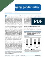 Converging Gender Roles