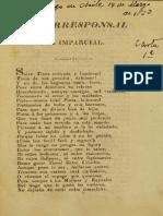 El Corresponsal Del Imparcial. Cartas 1, 2 y 3. (1823)