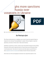 U.S. weighs more sanctions against Russia over violations in Ukraine.odt