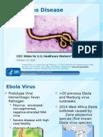 Ebola 101 Cdc Slides for HCP