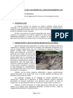 Aprovechamiento de Los Residuos de Construccion (Rcd)