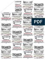 Aviso Para Imprimir Acá (12 Tarjetas de 9 x 5)