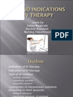 Type and Indication of IV Therapy 2