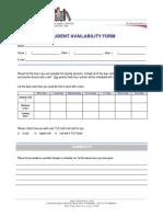 Student Availability Form