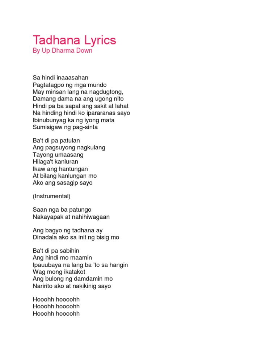Tagpuan lyrics english