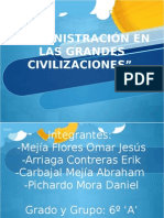 Administracion Grandes Civilizaciones.