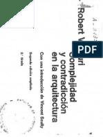 Complejidad y Contradicción en Arquitectura.