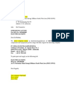 Draft Supporting Letter