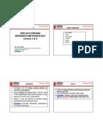 Lecture 4 & 5 Research Design