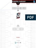 Printable March Madness Bracket 2015