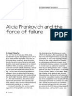 Alicia Frankovich and the Force of Failure - Column 5 (2010)
