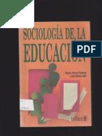 Regina Jimenez Ottalengo Sociologia de La Educacion