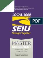 2013 Master Agreement SEIU1000
