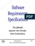 Software Requirement Specifications