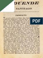 El Duende de Santiago N° 1 al 19. (1818)