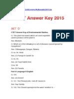 Ctet Answer Key 2015 All Sets