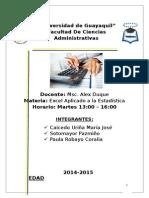 Estadistica Ejercicios Excel Universidad Guayaquil