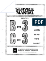 Hammond Organ b3-c3 Service Manual