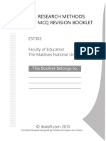 Research-Methods MCQ Booklet