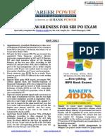 Financial Awareness Capsule Sbi Po