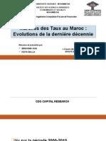 Marchés Des Taux Au Maroc - Evolutions de La Dernière Décennie