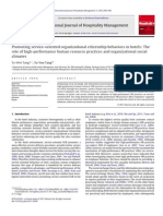 Promoting Service-Oriented Organizational Citizenship Behaviors in Hotels the Role of High-performance Human Resource Practices and Organizational