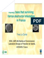 Honeybees Surviving Varroa Destructor Infestations in France - LE CONTE Yves