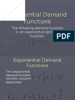 Exponential Demand Functions