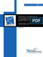 Disability and Poverty in Developing Countries