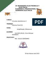 Informe Final 2 Amplificador Diferencial