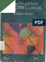 Introduccion Al Algebra Lineal - H. Anton