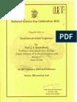 National Science Day Celebration 2015